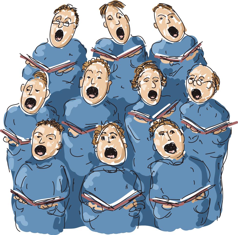 Abbildung eines Chors