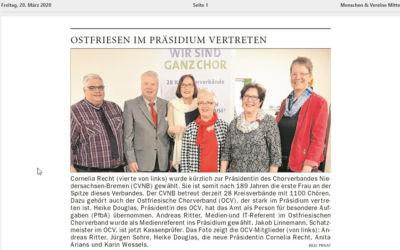OCV im CVNB Präsidium vertreten