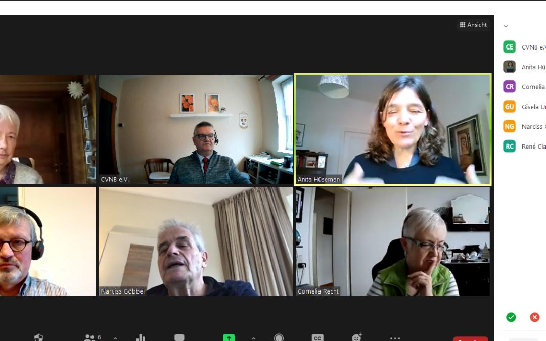 """Videokonferenz Steuerungsgruppe """"Leitbild des CVNB"""""""